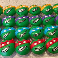 Teenage Mutant Ninja Turtles Teenage Mutant Ninja Turtle cake and cupcakes