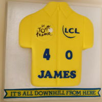 Tour De France Tour de France 40th birthday cake