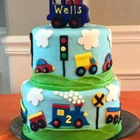 Train Birthday Cake Tiered train birthday cake