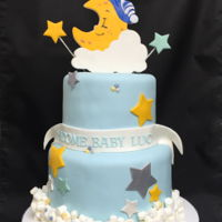 Twinkle Twinkle Little Star Themed Baby Shower Cake I used the marshmallows for the clouds decorations.