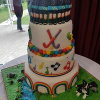 Uk Gay Sports Wedding Cake My sisters unique design