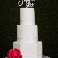 White Wedding Cake All white wedding cake