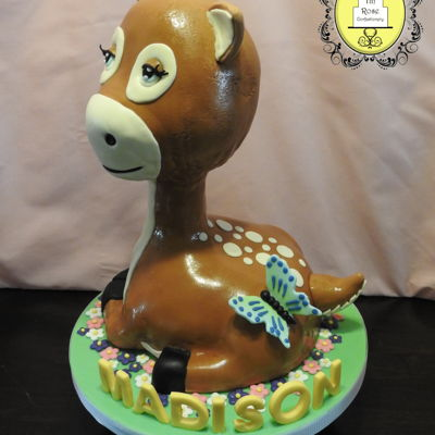 Baby Deer Cake When I found out that the little girl I made this cake for loved her stuffed baby deer so much that she takes it wherever she goes I...
