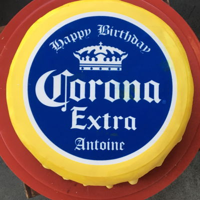 Corona Bottle Cap Cake
