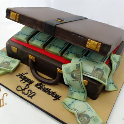 Money Brief Case Cake