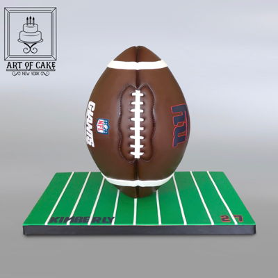 Ny Giants 3D Football Cake on Cake Central