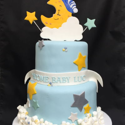 Twinkle Twinkle Little Star Themed Baby Shower Cake
