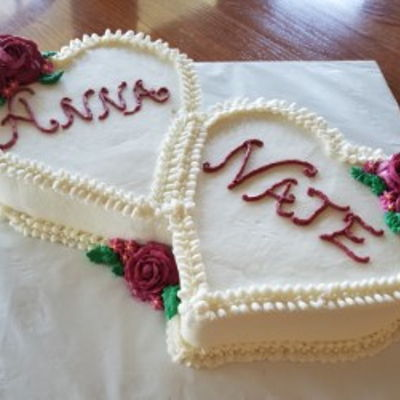 Two Hearts Bridal Shower Cake