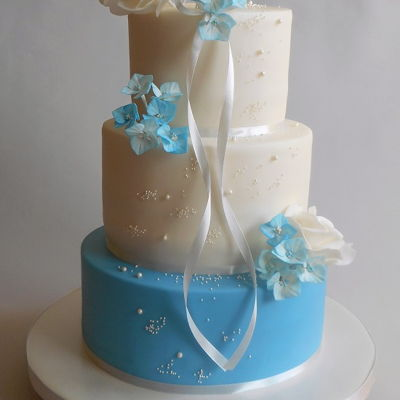 Wedding Cake Blue And White