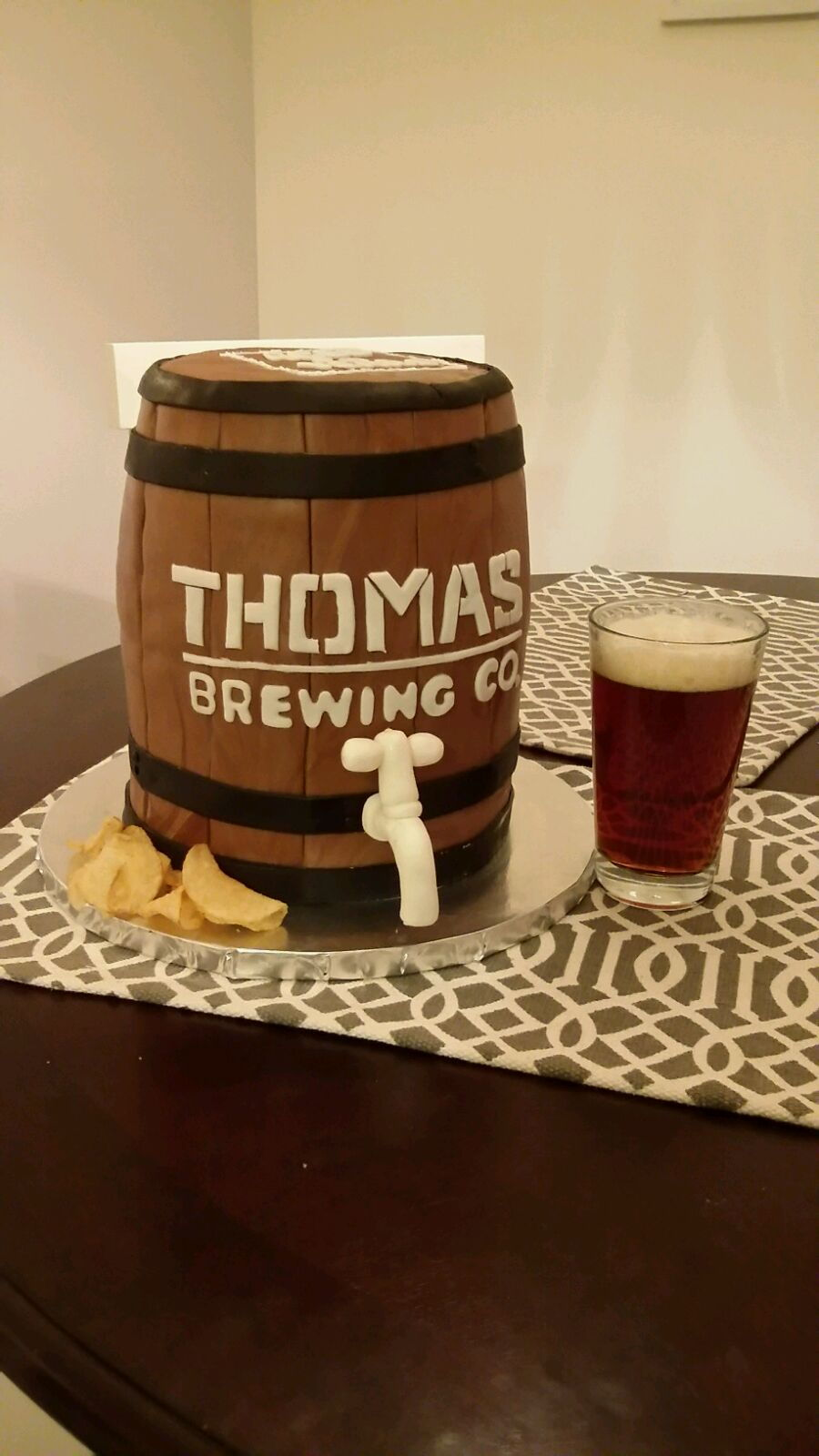 50Th Bday Beer Barrel on Cake Central