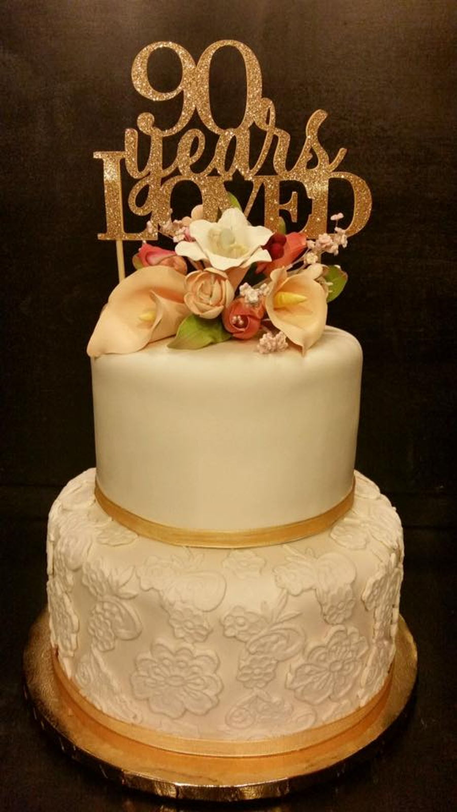 Astounding 90Th Birthday Cake Cakecentral Com Funny Birthday Cards Online Elaedamsfinfo