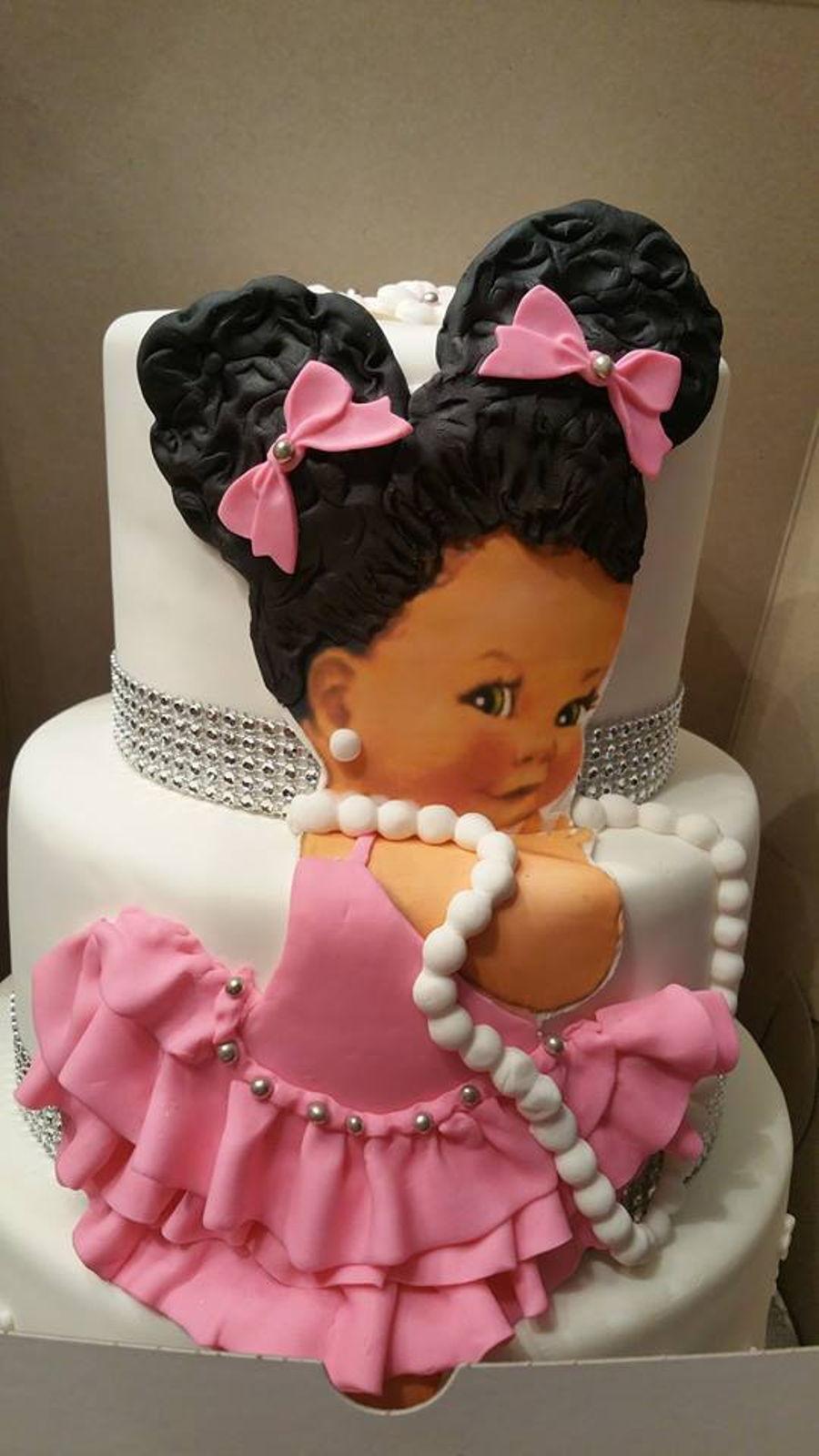 Pleasant African American Girl Cake Cakecentral Com Funny Birthday Cards Online Elaedamsfinfo