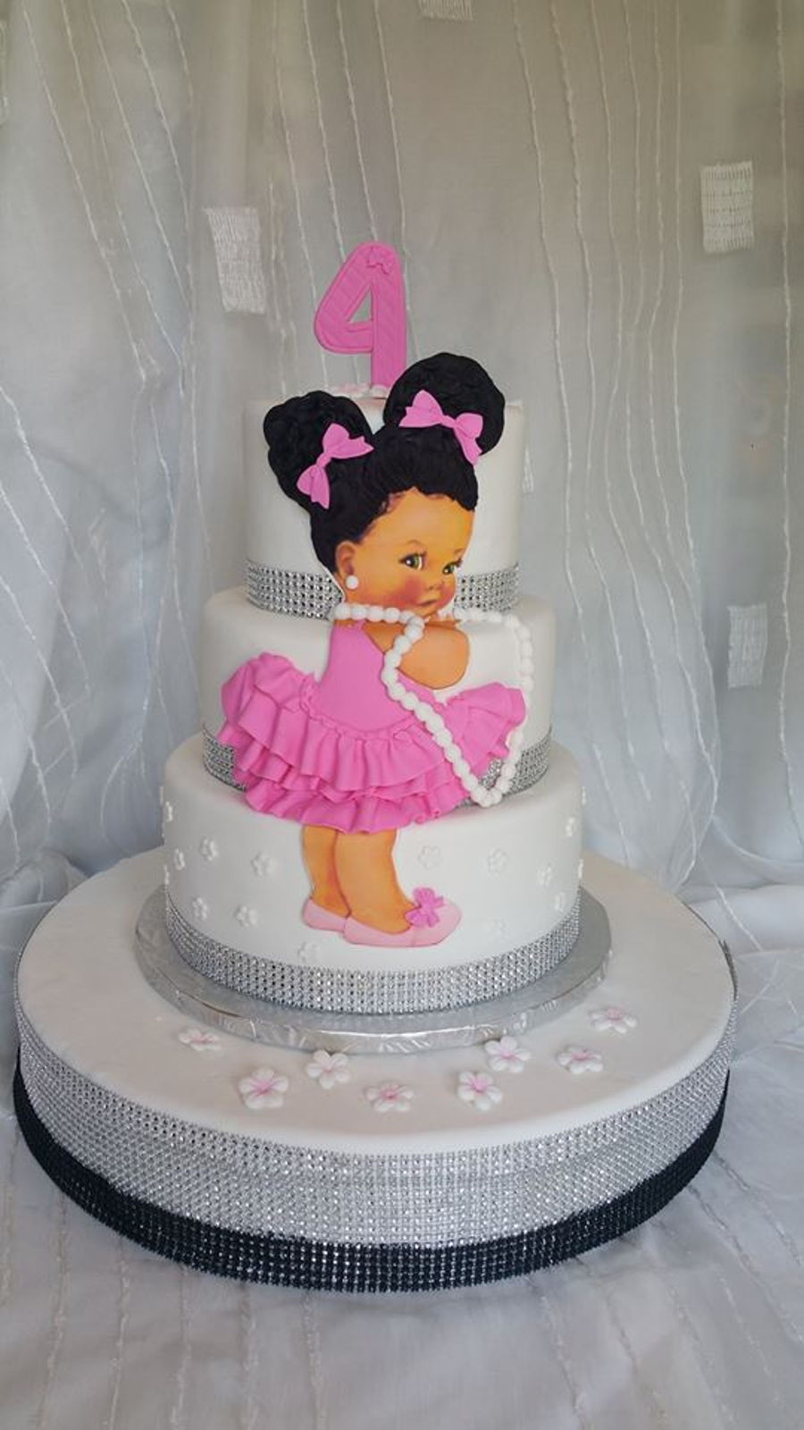 Awe Inspiring African American Girl Cake Cakecentral Com Personalised Birthday Cards Paralily Jamesorg