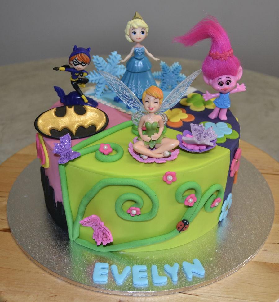 Batgirl Elsa Poppy Tinkerbell Cakecentral