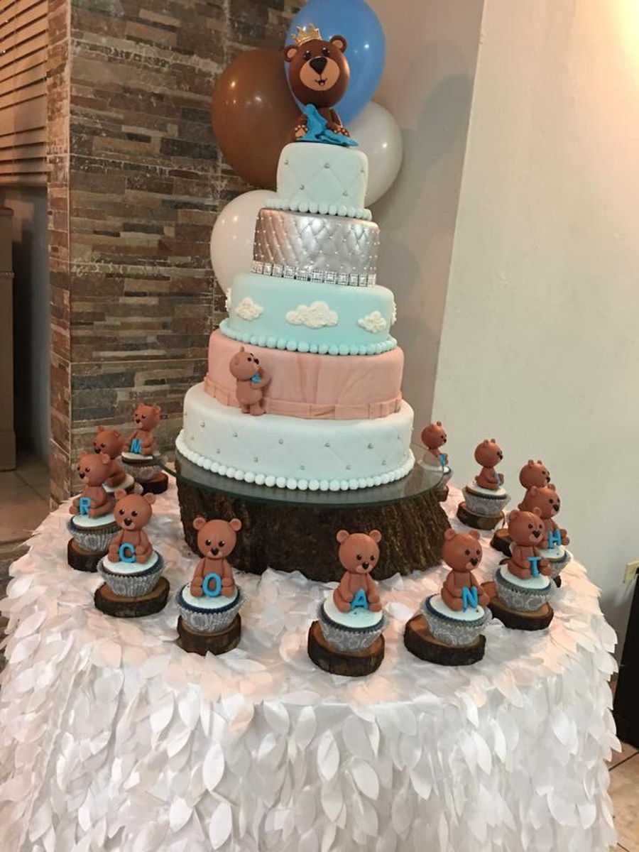 Bears Majestic Welcome Baby Cake on Cake Central