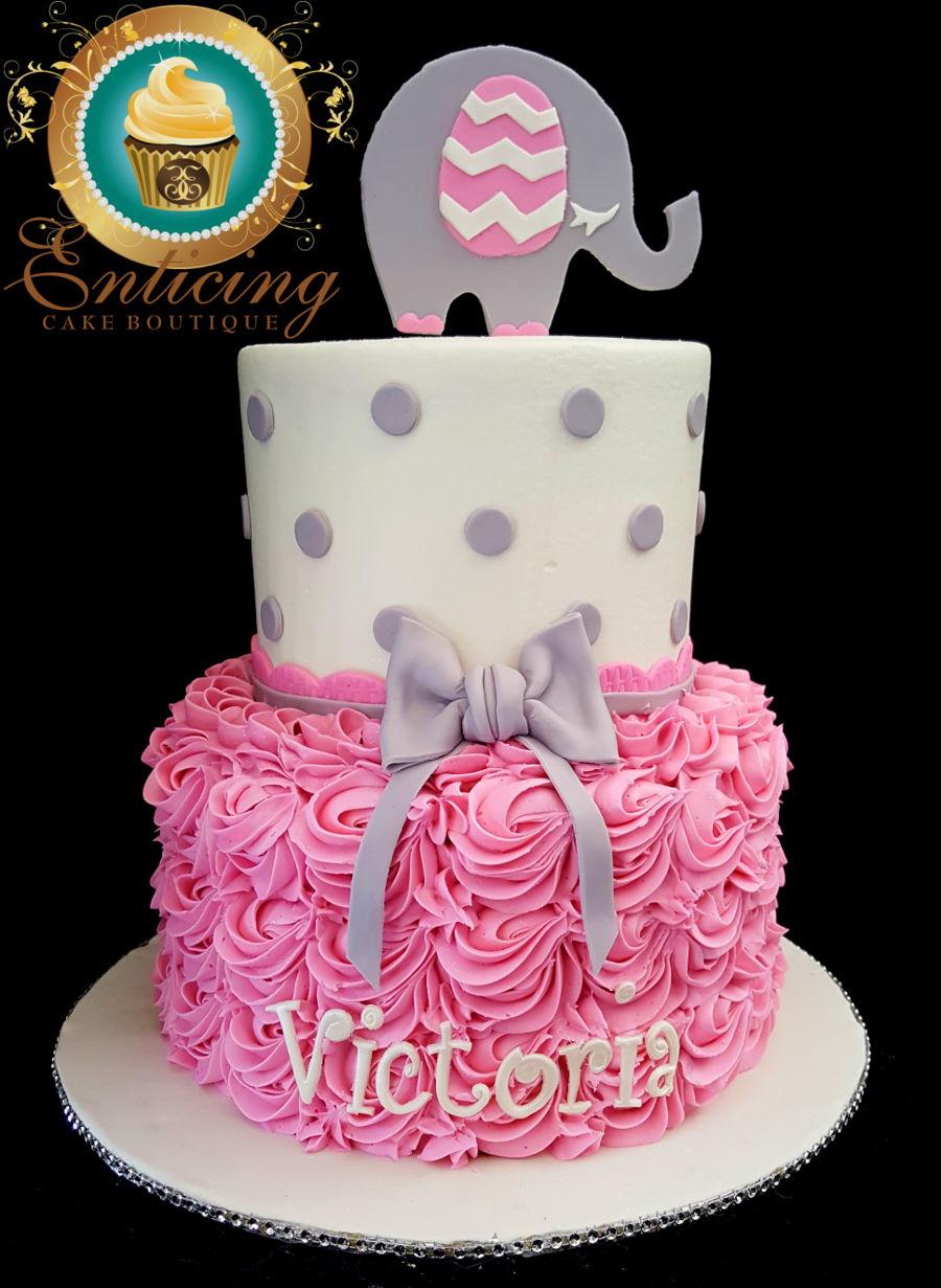 Elephant Baby Shower Cake On Cake Central