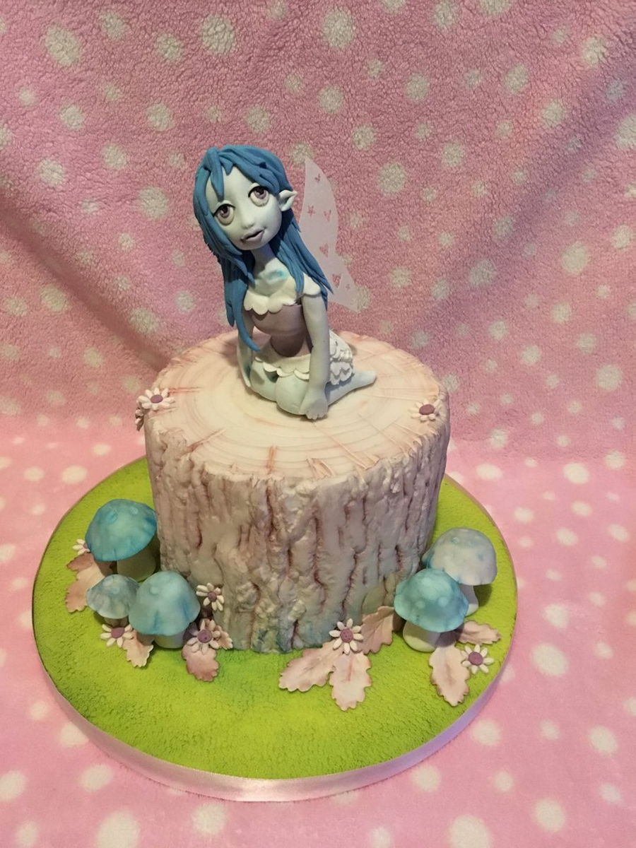 Fairy Tree Trunk Cake on Cake Central
