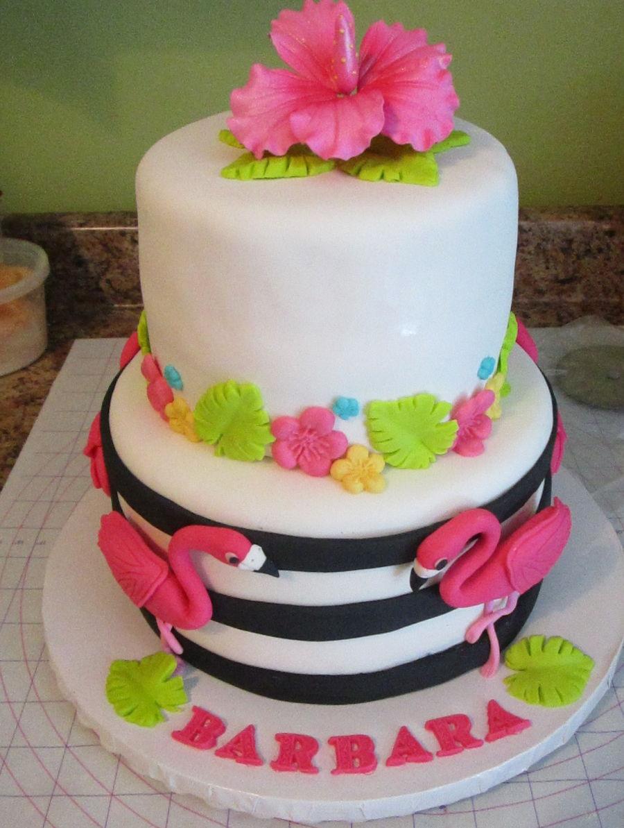 Famingle Flamingo Birthday Cake For Barbara CakeCentralcom - Birthday cake barbara