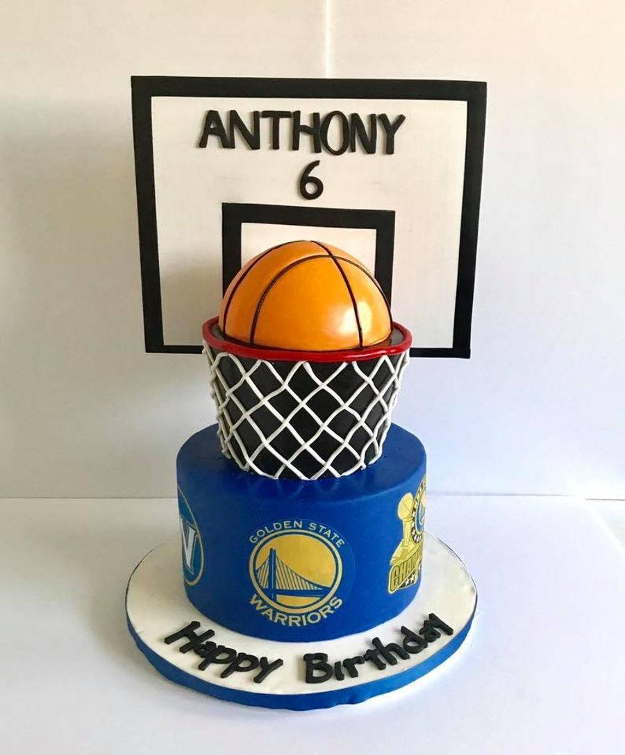Golden State Warriors Cake Design