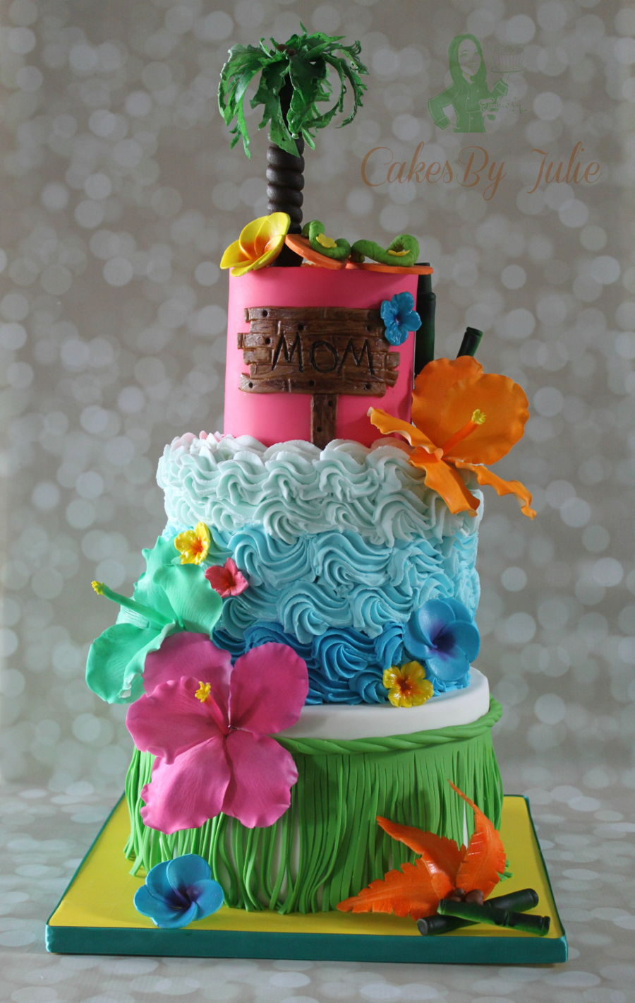 Sensational Hawaiian Themed Birthday Cake Cakecentral Com Personalised Birthday Cards Epsylily Jamesorg