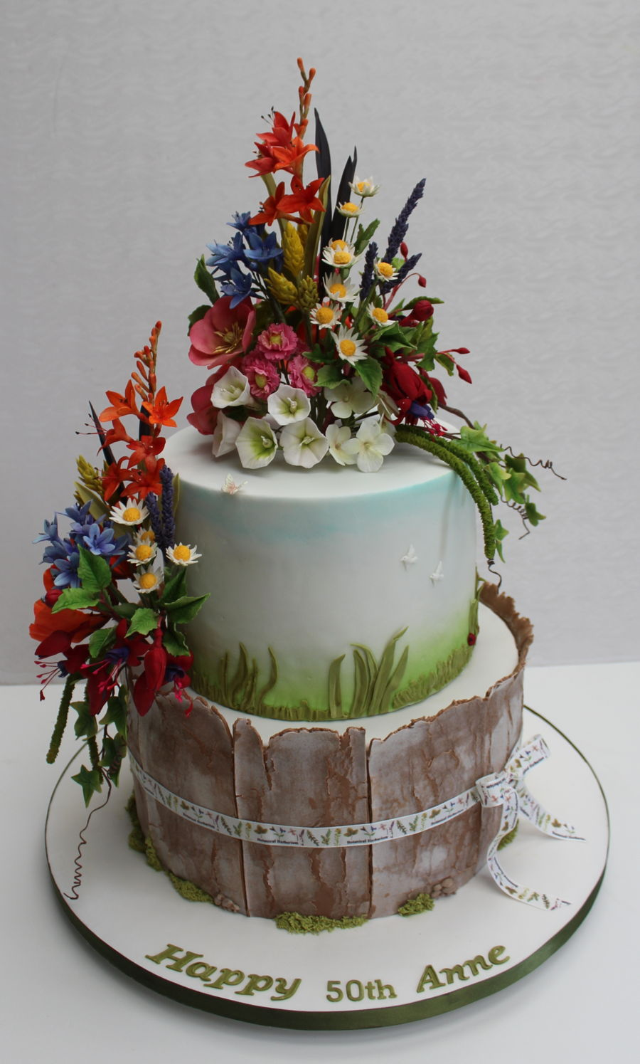 Irish Wildflowers on Cake Central