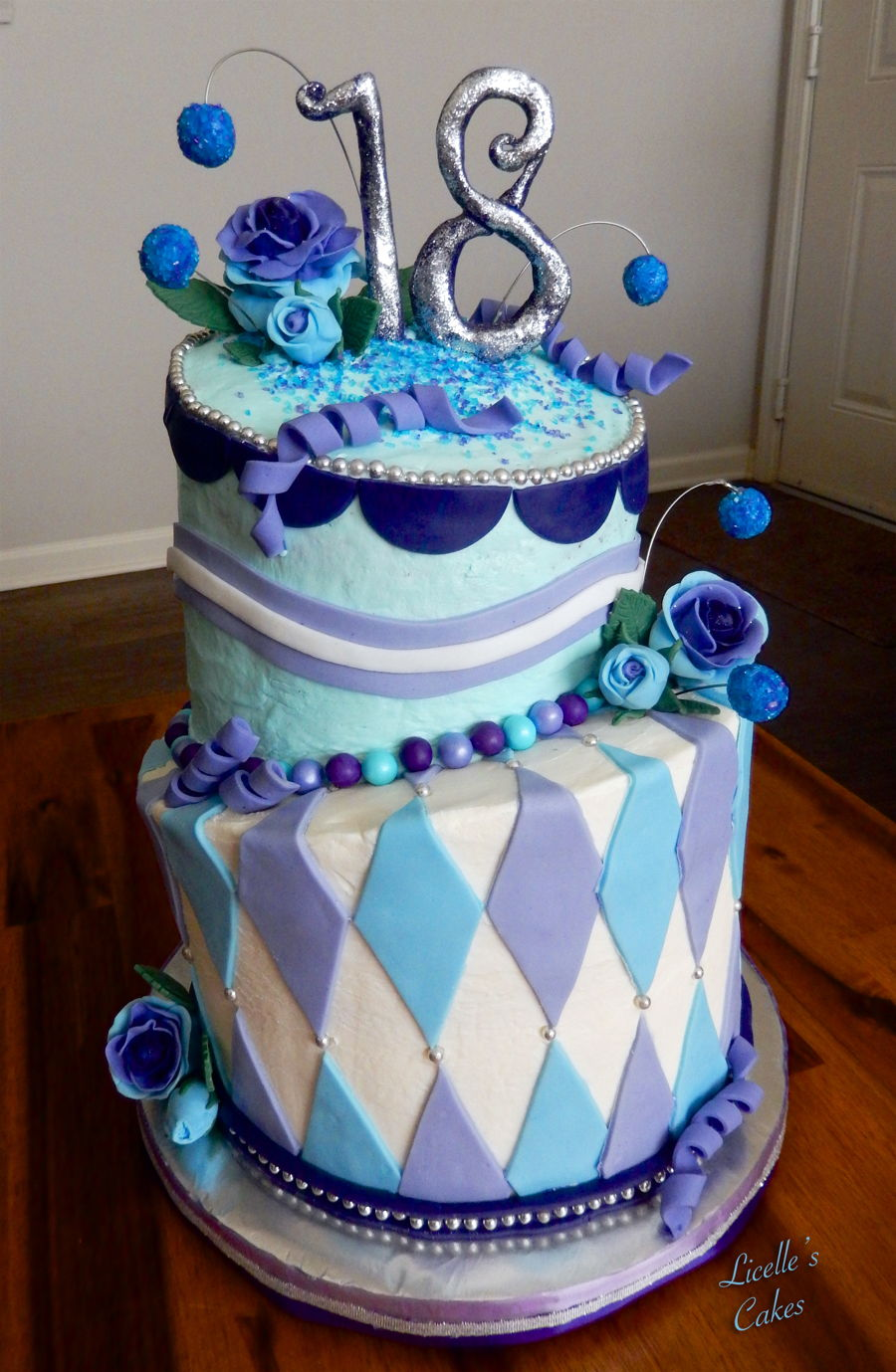 Topsy Turvy 18th Birthday Cake Cakecentral