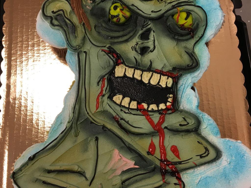 Buttercream Zombie Cupcake Cake CakeCentralcom