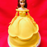 Belle Princess Doll Cake Fondant
