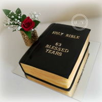 Bible Book Cake Vanilla cake 7'' x 11''