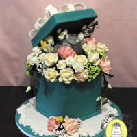 Bridal Shower Engagement Ring Cake Engagement Ring Flower Box Cake I have been super busy these past few weeks. I had entered into the State Fair cake decorating competition...