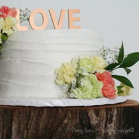 Buttercream Wedding Cake Simple buttercream cake