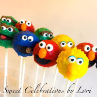 Cake Pops Sesame Street Cake pops - Big Bird, Grouch, Elmo, Cookie Monster