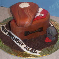 Coffin Cake Chocolate coffin cake using chocolate molds and modeling chocolate