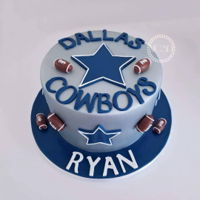 Dallas Cowboys Cake 8'' Chocolate cake