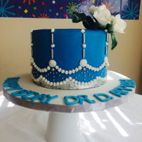 Edible Beads Cake Birthday cake decorated with edible beads and silver leaf