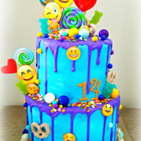 Emoji Drip Cake This cool emoji cake will be sure to be the coolest cake at any party. With emoji's being all the craze it was a no brainer and so...