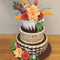 Fall Tiered Cake Fall inspired the colors and design of this cakes. I wanted to play with the light and dark in a different way. I paired it with different...