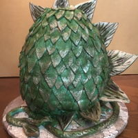 Game Of Thrones Dragon Egg. I had so much fun with this cake. I wanted to refund the deposit and keep it myself-but I didn't!