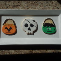 Halloween Cookeis NFSC with fondant and sprinkles