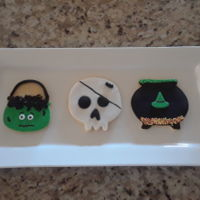 Halloween Cookies NFSC with fondant and sprinkles