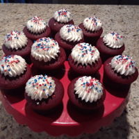 Labor Day Cupcakes red velvet cupcakes with buttercream