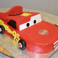Lightning Mcqueen Chocolate Cake with BC and Fondant Accents My 11th Lightning McQueen Cake...