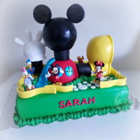 Mickey Mouse Clubhouse Cake Vanilla CakeRice Krispie ToppersMickey Mouse Clubhouse Figures