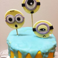 Minion Farewell Cake Buttercream cake