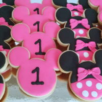 Minnie Mouse 1St Cookies Sugar cookies