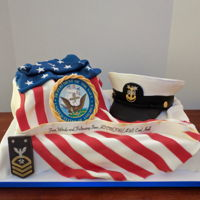 Navy Cake A retirement cake for a gentleman in the navy.