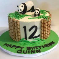 Panda Cake Vanilla with raspberry filling.