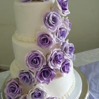 Purple Roses Buttercream with gum paste roses