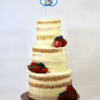 Rustic Naked Cake Rustic naked cake