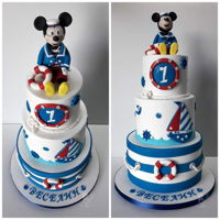 Sailor Mickey Mouse Cake Sailor Mickey Mouse cake